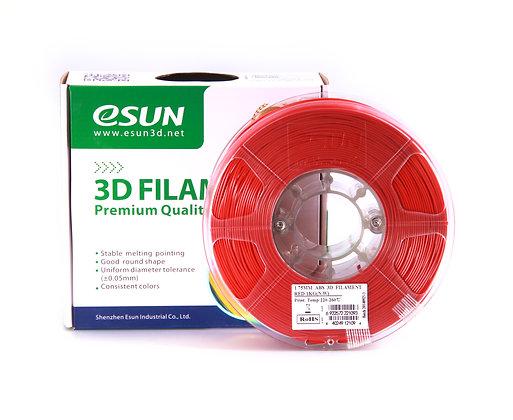 גליל פילמנט איכותי מתוצרת Esun מסוג ABS+ בצבע אדום