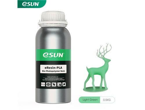 בקבוק שרף איכותי בצבע ירוק בהיר מתוצרת esun מסוג Bio-pla