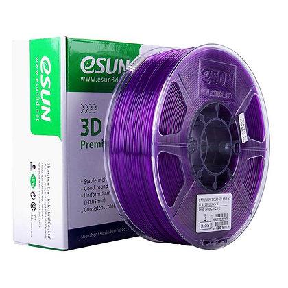 גליל פילמנט איכותי מתוצרת Esun מסוג PETG בצבע סגול שקוף