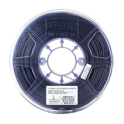 גליל פילמנט איכותי מתוצרת Esun מסוג PETG בצבע אפור שקוף