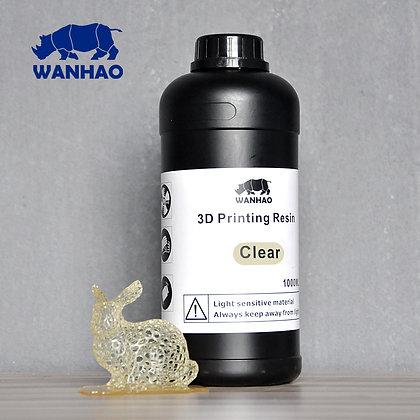 בקבוק שרף איכותי בצבע שקוף מתוצרת wanhao למדפסות DLP/SLA