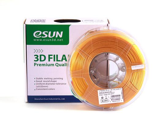 גליל פילמנט איכותי מתוצרת Esun מסוג PLA+ בצבע זהב