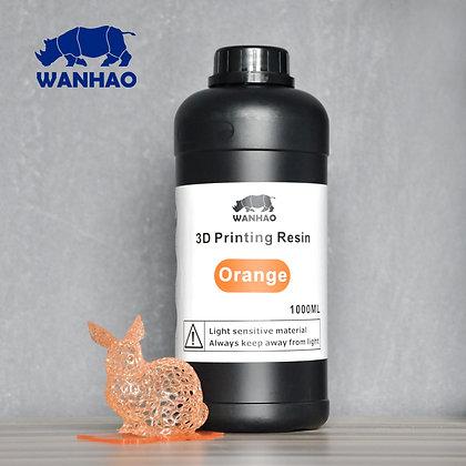 בקבוק שרף איכותי בצבע כתום מתוצרת wanhao למדפסות DLP/SLA