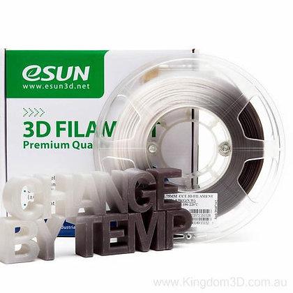 גליל פילמנט איכותי מתוצרת eSUN המשנה צבע מאפור בחום