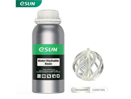 בקבוק שרף איכותי שטיף במים בצבע שקוף מתוצרת eSUN למדפסות DLP/SLA