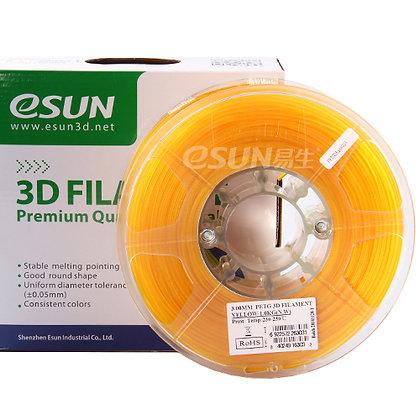 גליל פילמנט איכותי מתוצרת Esun מסוג PETG בצבע צהוב שקוף