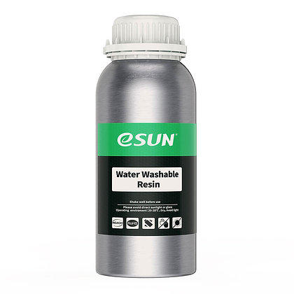 בקבוק שרף איכותי שטיף במים בצבע שחור מתוצרת eSUN למדפסות DLP/SLA