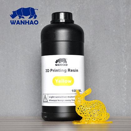 בקבוק שרף איכותי בצבע צהוב מתוצרת wanhao למדפסות DLP/SLA