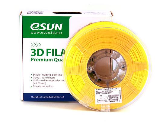 גליל פילמנט איכותי מתוצרת Esun מסוג ABS+ בצבע צהוב