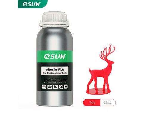 בקבוק שרף איכותי בצבע אדום מתוצרת esun מסוג Bio-pla