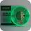 Thumbnail: גליל פילמנט איכותי מתוצרת Esun מסוג ABS+ בצבע ירוק זוהר בחושך