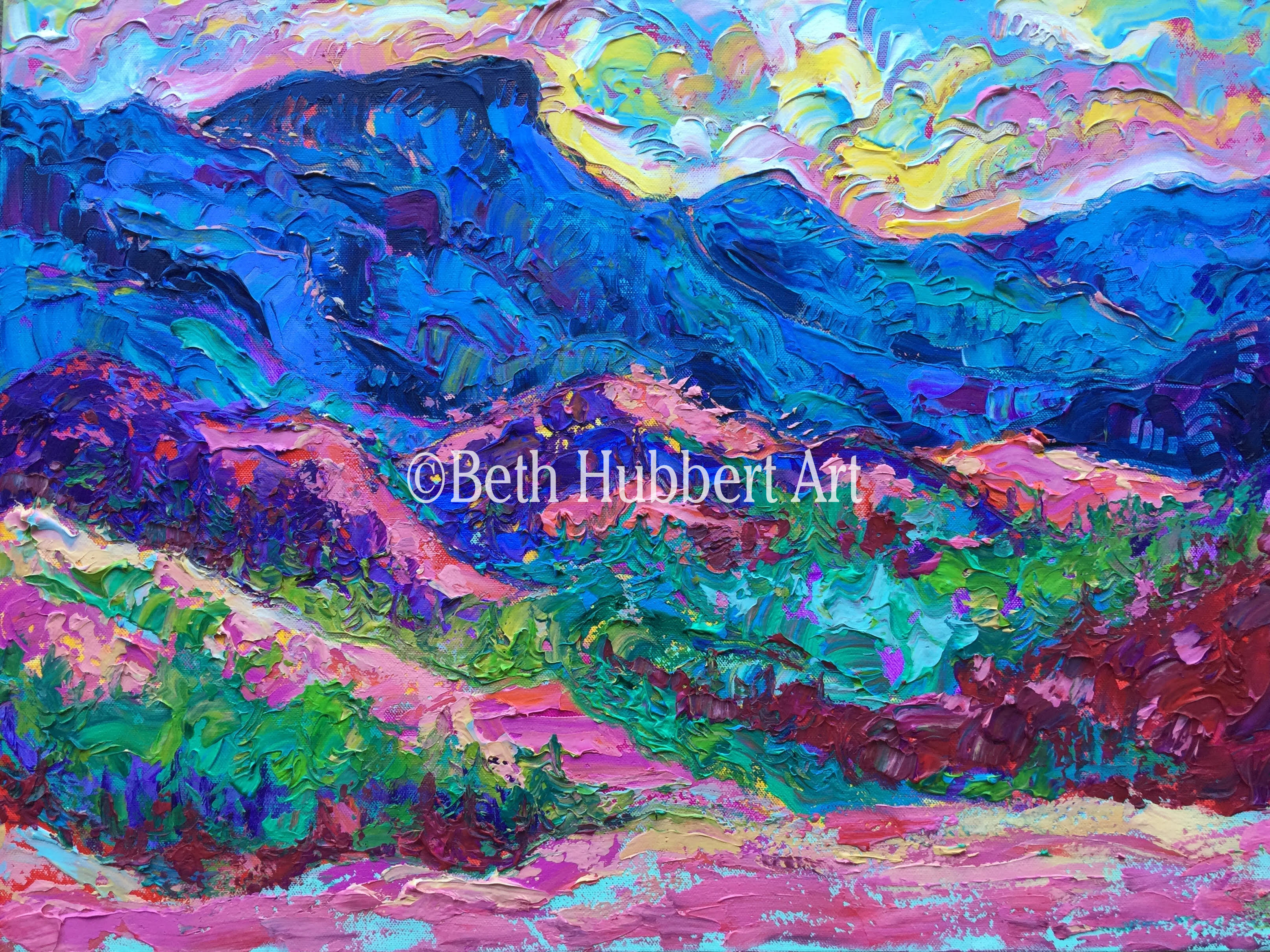 """Scenic Byway, CO 18""""x24""""   $275   #189"""