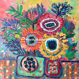 Folk Art Flowers    Sold    #421