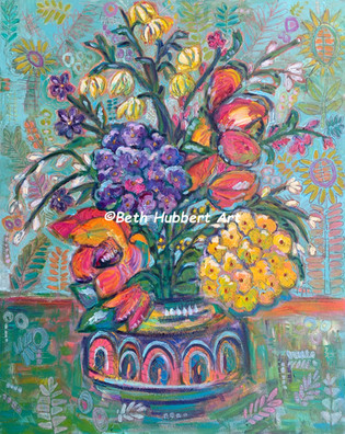 Spring Flowers in the Abstract
