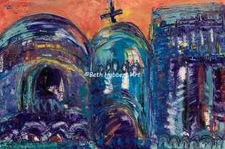 Cathedral in Oaxaca   Sold   #256