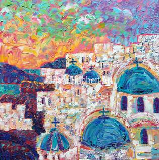 Oia, Santorini   30_x30_   Sold    #129