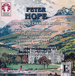 Peter Hope, Songs and Chamber Music