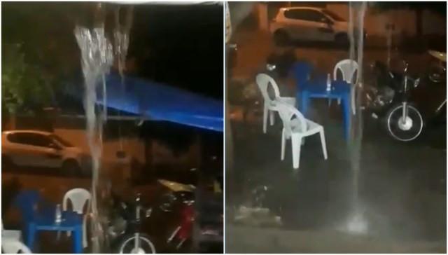 Chuva forte na noite de hoje (7) na cidade de Carnaúbas dos Dantas (RN)