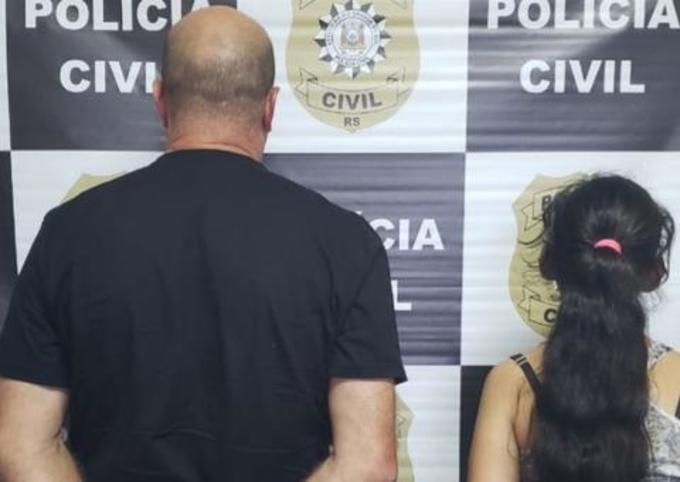 Miseráveis são presos após vídeo vazar para a internet em que mãe grava o próprio namorado agredindo sua filha