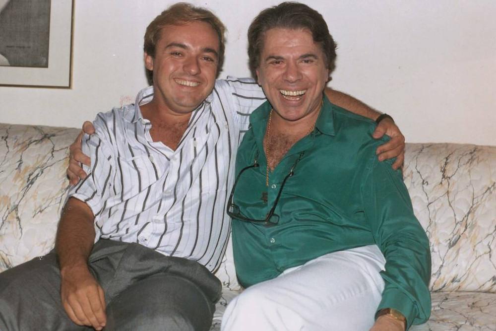 Gugu Liberato com Silvio Santos, em 1988 (Juvenal Pereira/Dedoc)
