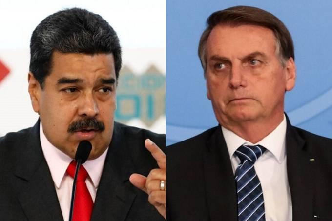 O ditador da Venezuela, Nicolás Maduro, e o presidente Jair Bolsonaro Marco Bello/Reuters; Marcos Corrêa/Presidência da República/Reuters