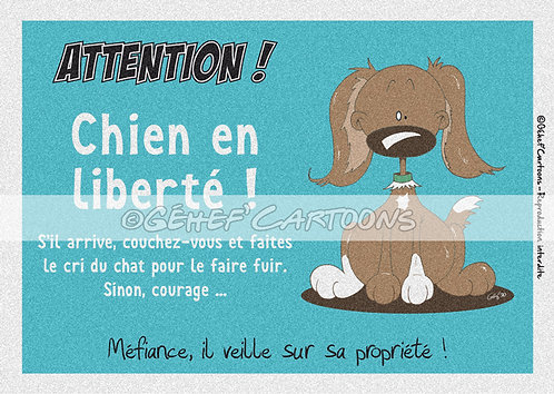 """Plaque humoristique """"En liberté"""" - Collection Coussinets"""