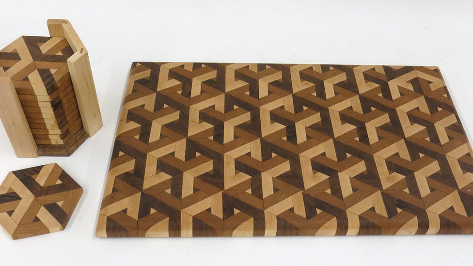 3D Cutting Board and Coasters by George Konizer