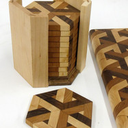 3D Cutting Board and Coasters by George Konizer (Detail)