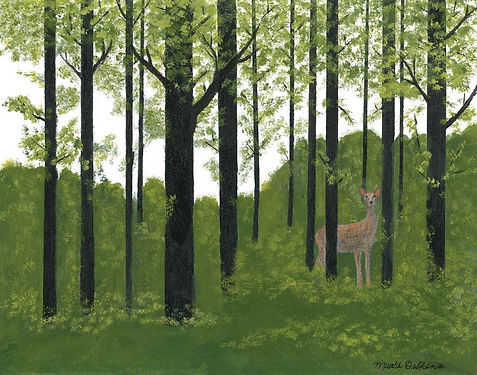 A Walk in the Woods Acrylic Painting by Marti Dobkins