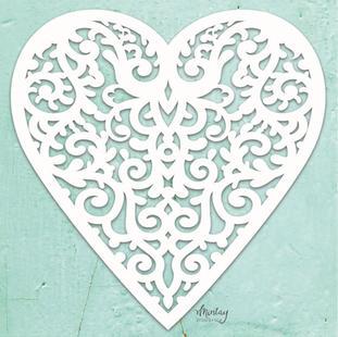 Mintay Chippies - Decor - Filigree Heart