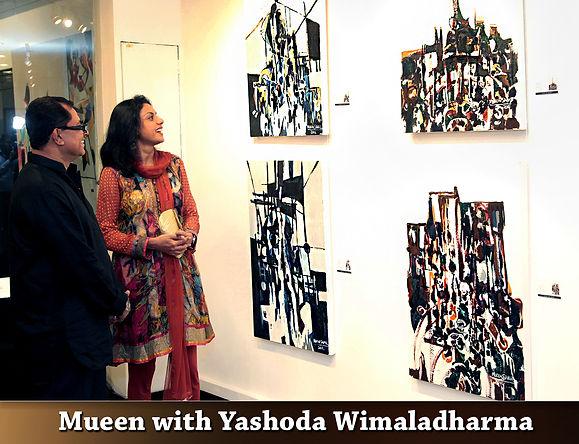 Abstract Artist Mueed Saheed with Yashoda Wimaladharma