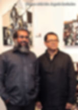 Abstract Artist Mueen Saheed with Mr. Jagath Ravindra