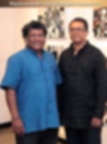 Abstract Artist Mueed Saheed with Mr. Chandraguptha Thenuwara