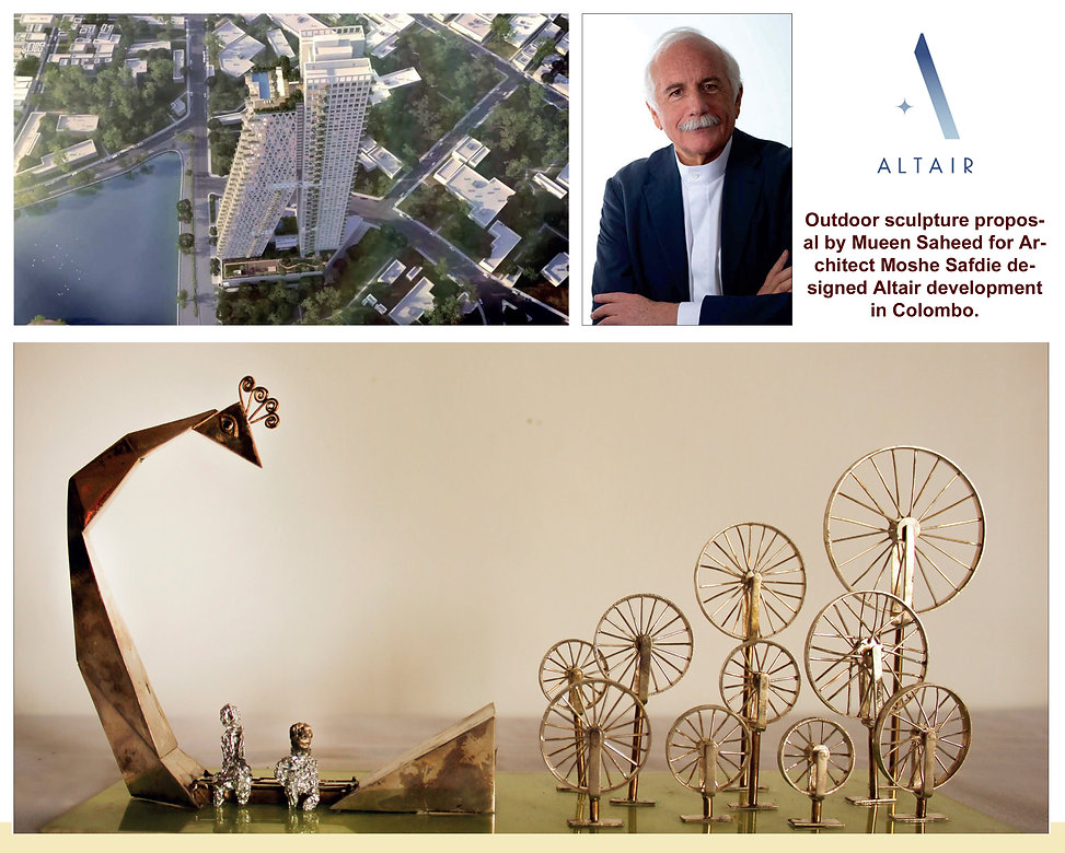 Outdoor Sculpture proposed for Altair |Mueen Saheed | Abstract Artist