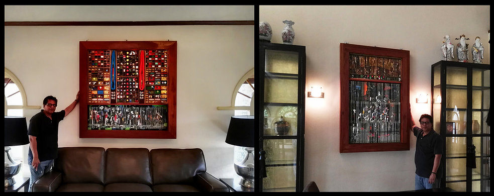 Wall instalation, wallart, Abstractart