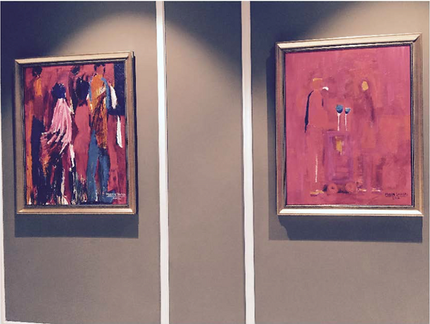 Contemporary South Asian Artist Mueen Saeed paintings forMovenpick Hotel