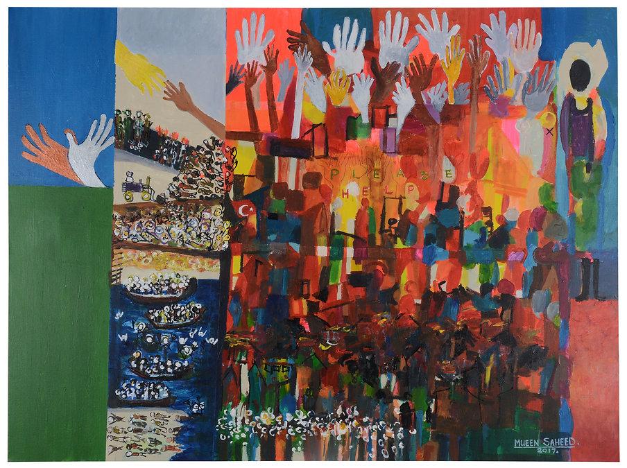 Abstract Art by Mueen Saeed - Strange World