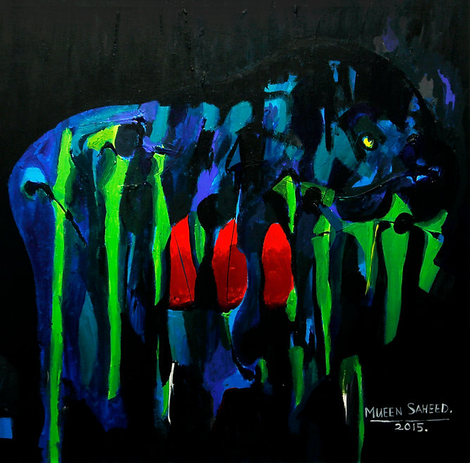 Painting by Mueed Saheed for The International Emerging artist award