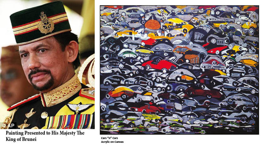 abstract art; Painting for His Majesty King of Brunei