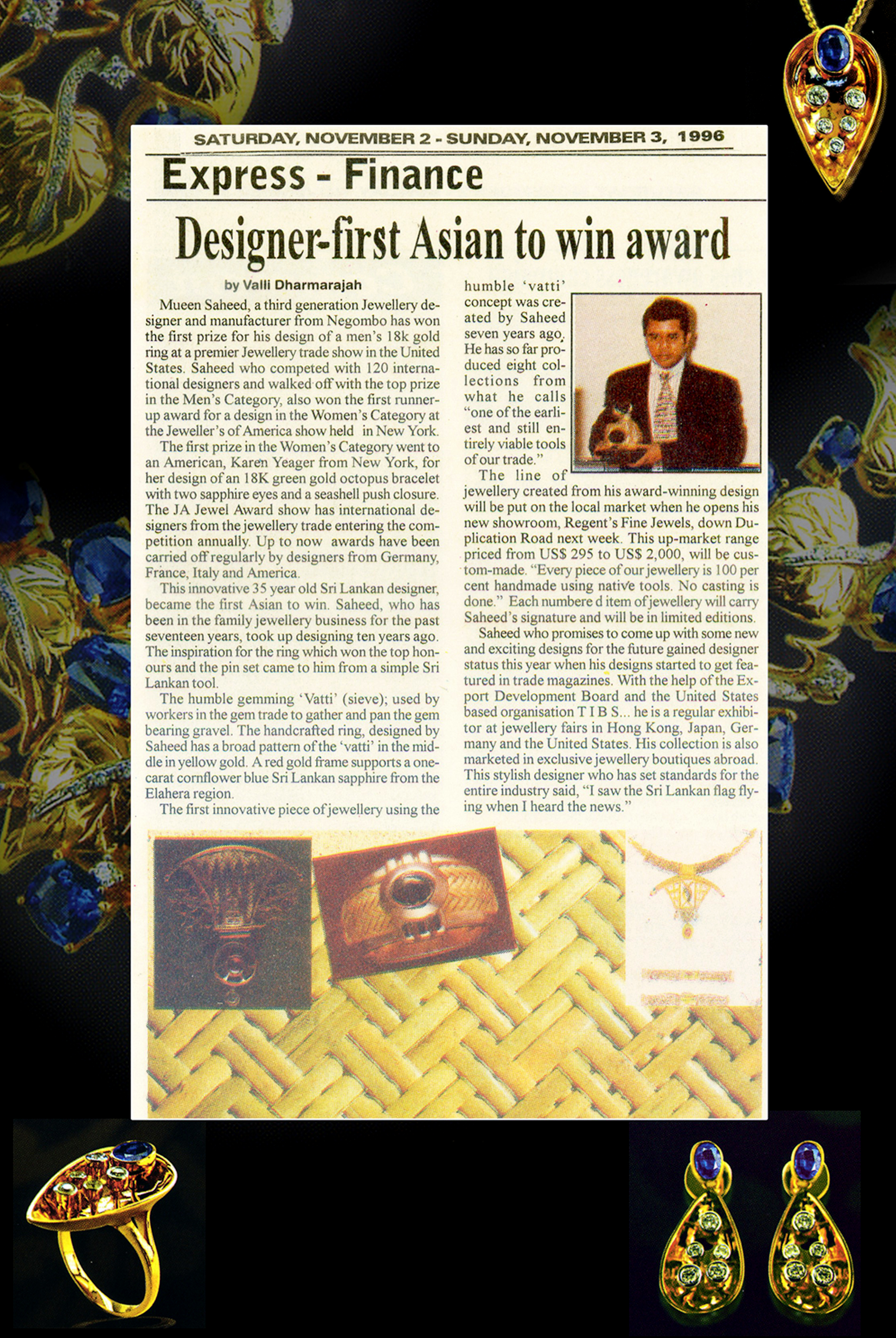 Mueen Saheed | Innovative Jeweller