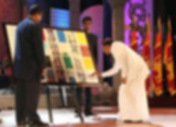 Abstract art for president MaithreepalaSirisena