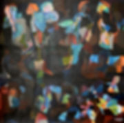 Abstract Art by Mueen Saeed - Crowd
