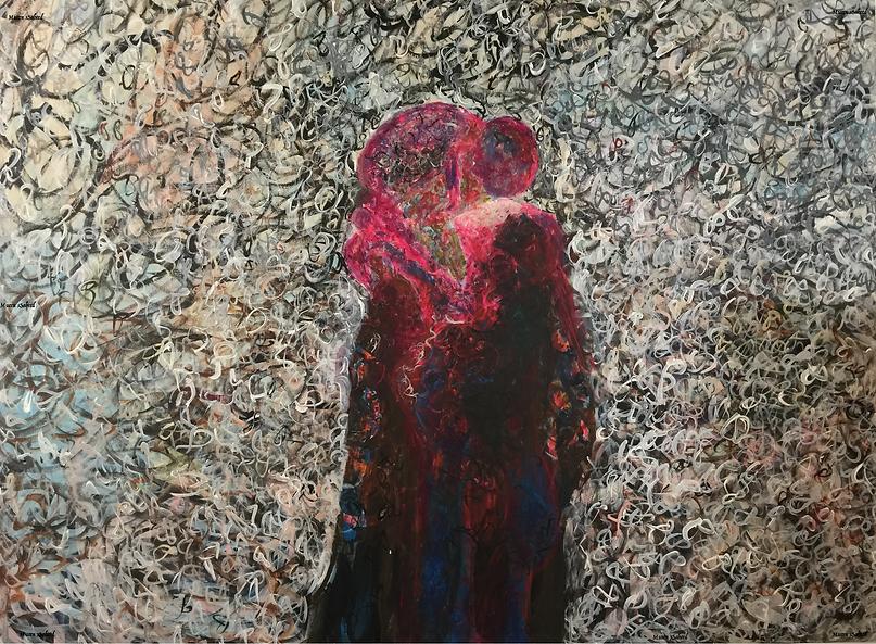 Abstract Art by Mueen Saeed - Eternal Love