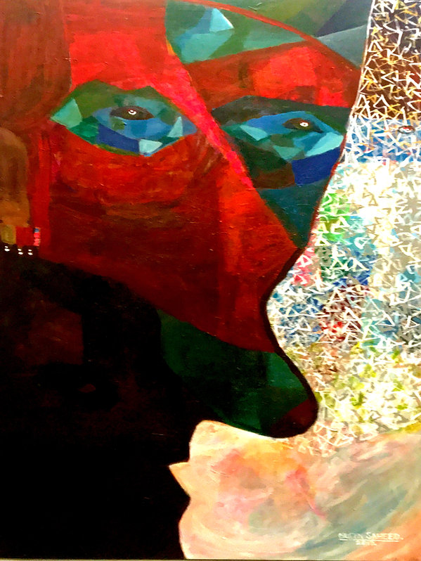 Abstract Art by Mueen Saeed - Ambivalence