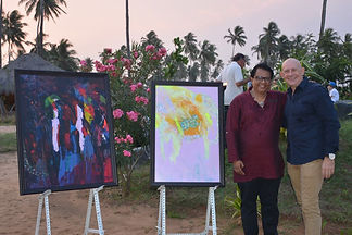 Contemporary South Asian Artist Mueen Saeed painting exebition at Shangri-La