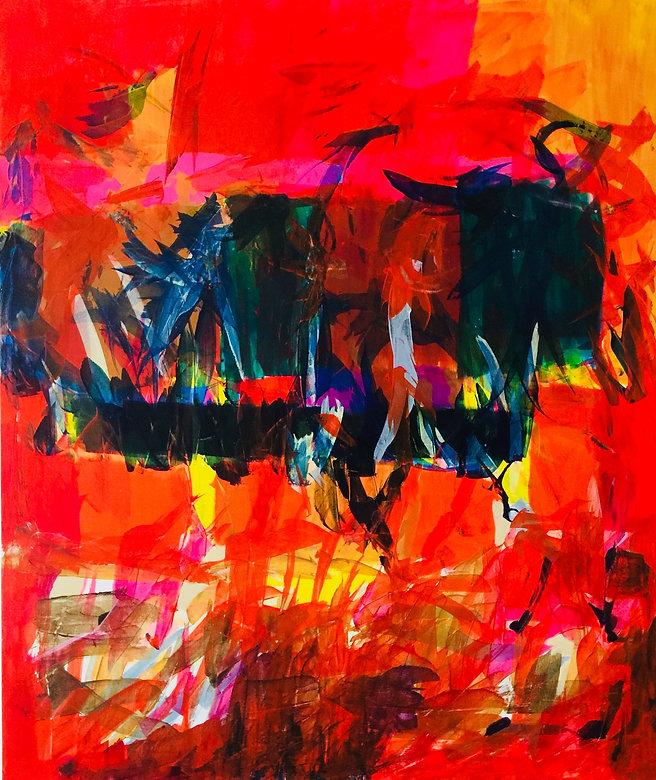 Abstract Art by Mueen Saeed - Euphoria