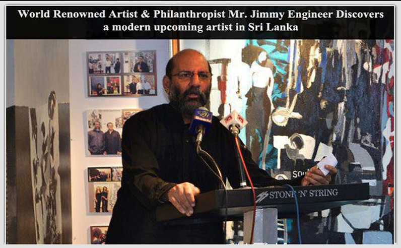 Mr Jimmy Engineer talking about Abstract Artist Mueed Saheed