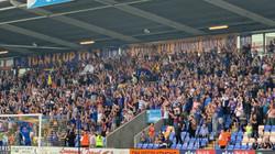 Town fans celebrate