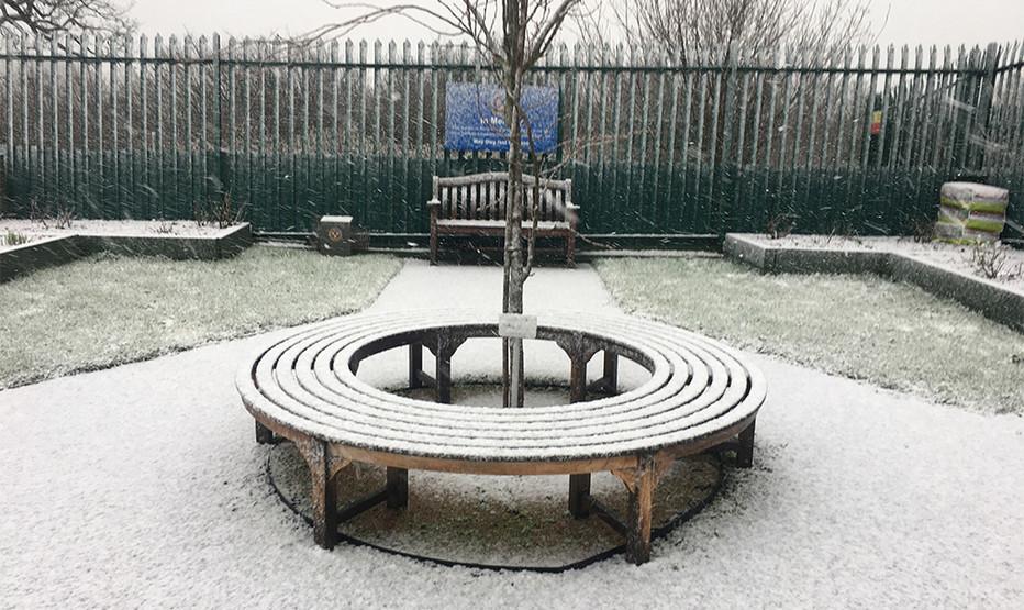Snowy Memorial Garden