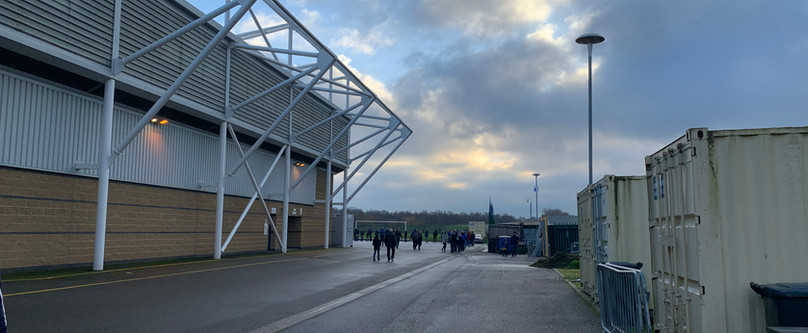 Town supporters arrive